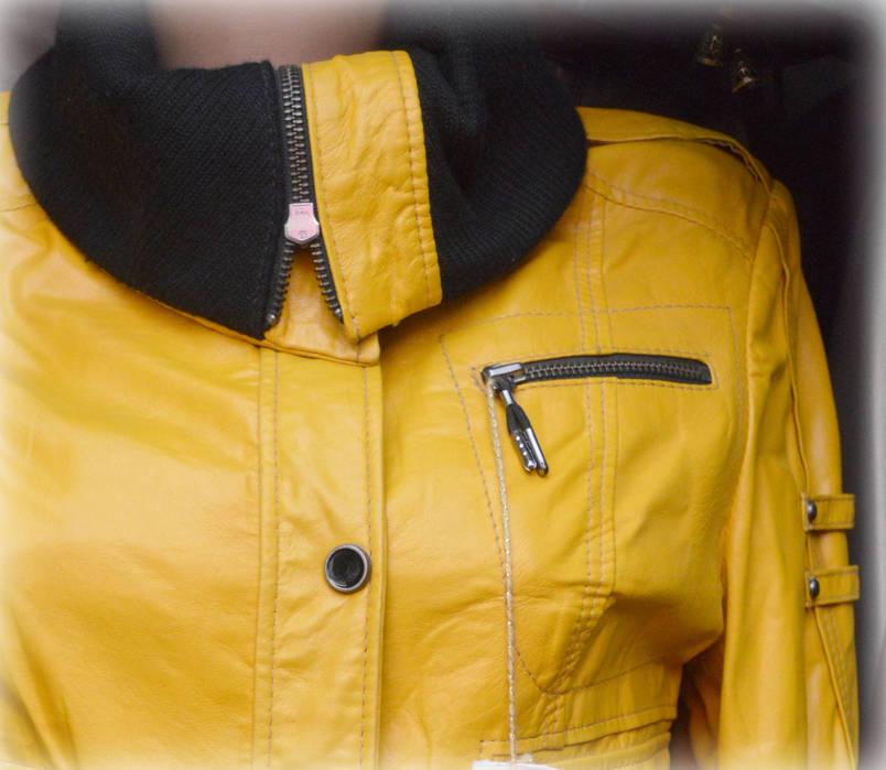 Женская кожаная курточка (молодежка), фото 2
