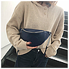 Молодежная женская сумка на пояс. Сумка-бананка. Поясная сумка. КС109
