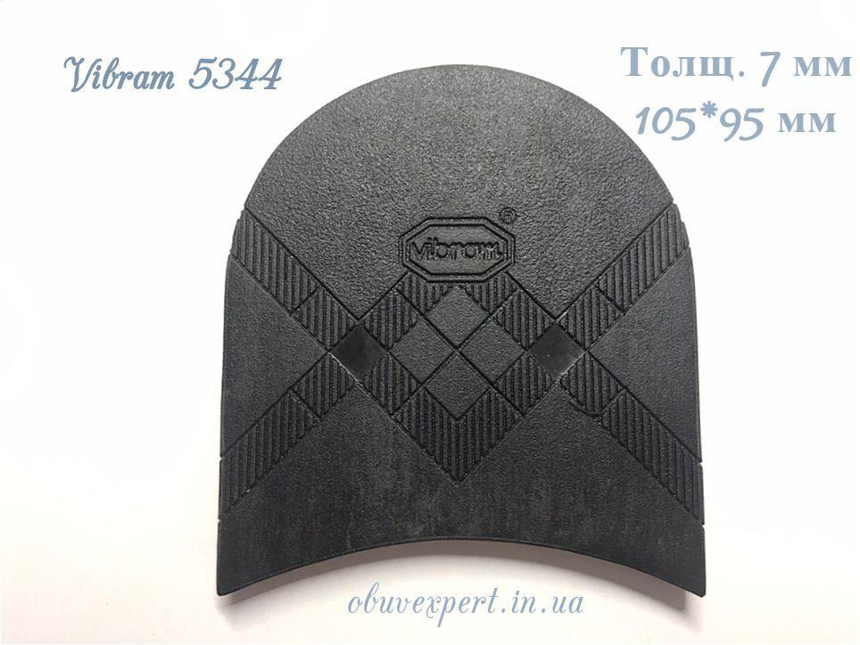 Набойка Vibram   5344 TARTAN TACCO р 40, толщ. 7 мм, цв. черный