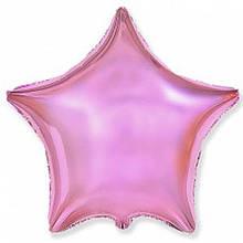 """Фольгированный шар звезда розовый глянцевый 18"""" Flexmetal"""