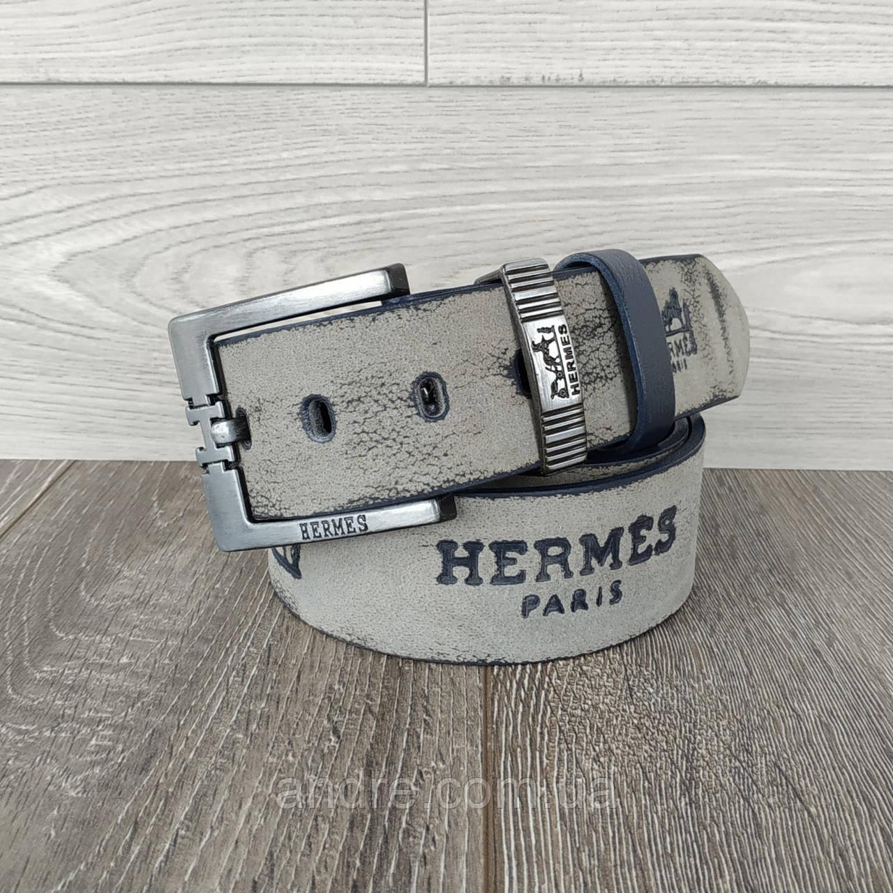 Кожаный джинсовый ремень Hermes (реплика)
