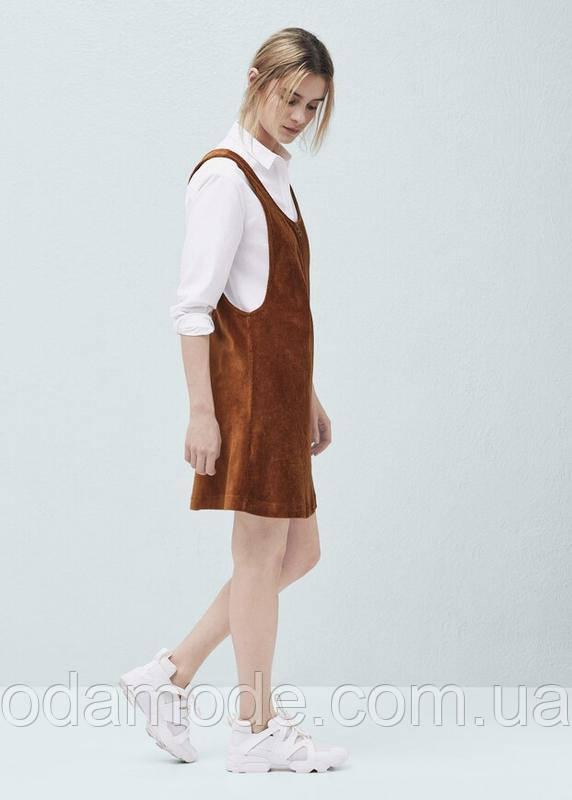 Платье женское  mango коричневое