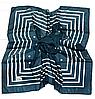 Легкий платок Полина, батист, 95*95 см, изумрудный