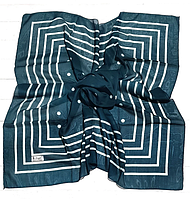 Легкий платок Полина, батист, 95*95 см, изумрудный, фото 1