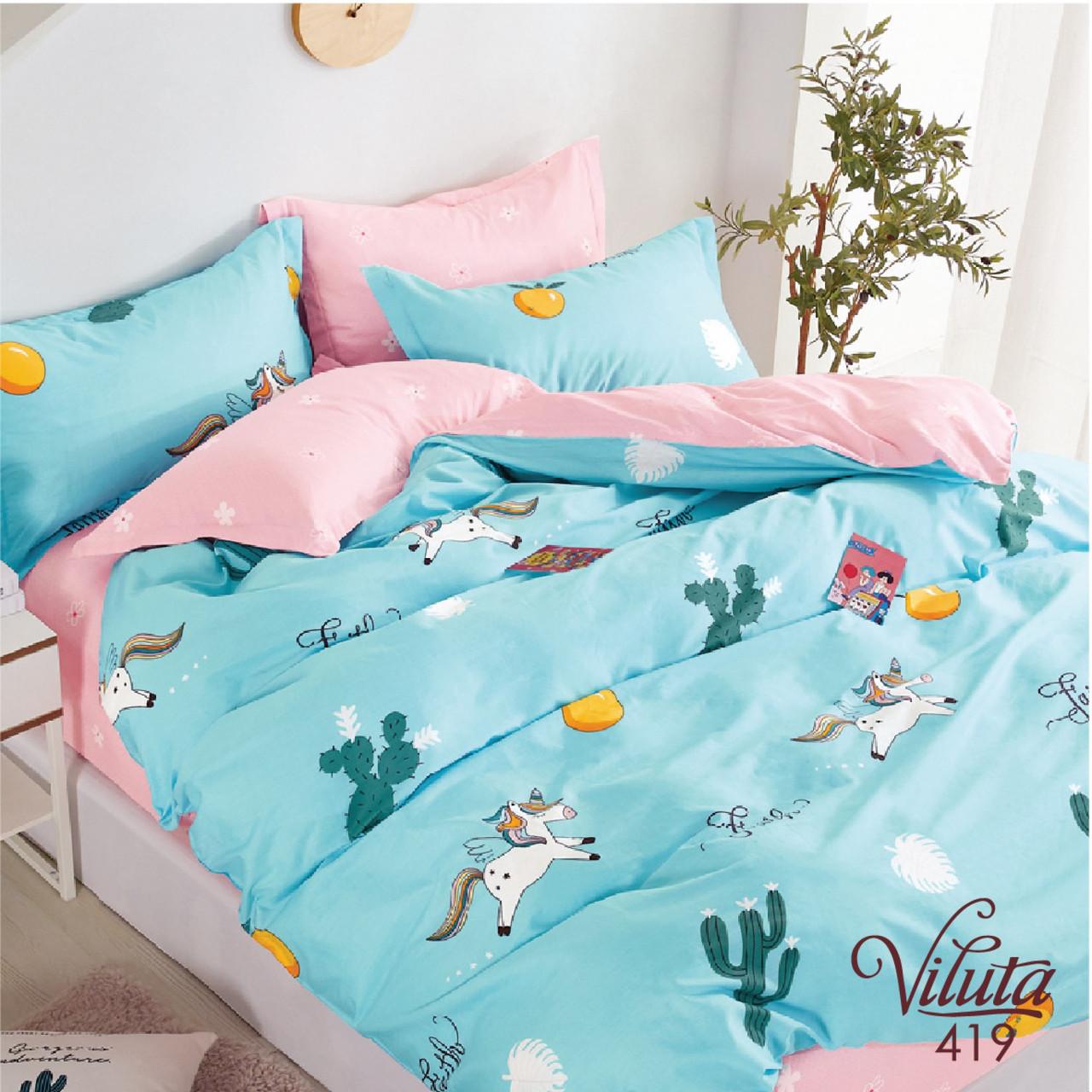Постельное белье в детскую кроватку Viluta. Сатин 419