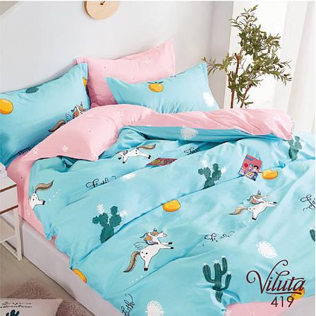 Постельное белье в детскую кроватку Viluta. Сатин 419, фото 2