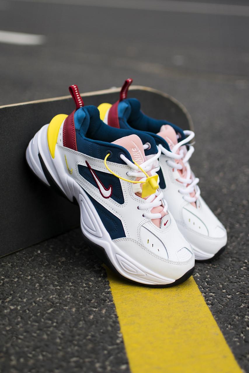 Жіночі кросівки Nike M2K, White/Blue/Pink Репліка