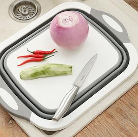 Доска разделочная 4 в 1, доска разделочная складная, миска доска, доска для кухни, доска трансформер