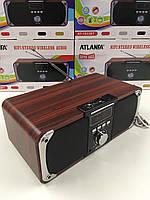 Портативная акустическая колонка Atlanfa AT-1833ВТ,FM, 12W, Super Bass speaker AUX bluetoothMP3 microSD/TF