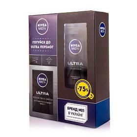 Подарочнчй набор Nivea men Блек ( Гель для душа 250 мл + лосьон после бритья 100 мл )
