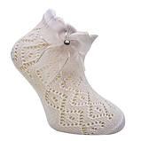 Нарядные ажурные носки для девочек оптом ТМ Katamino р.1-2 (18-21 см) белый,  молоко, фото 3