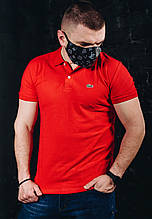 Мужская футболка в стиле Lacoste красная(размер S)