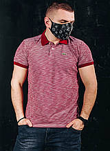 Мужская футболка в стиле Lacoste красная(размер S,M)