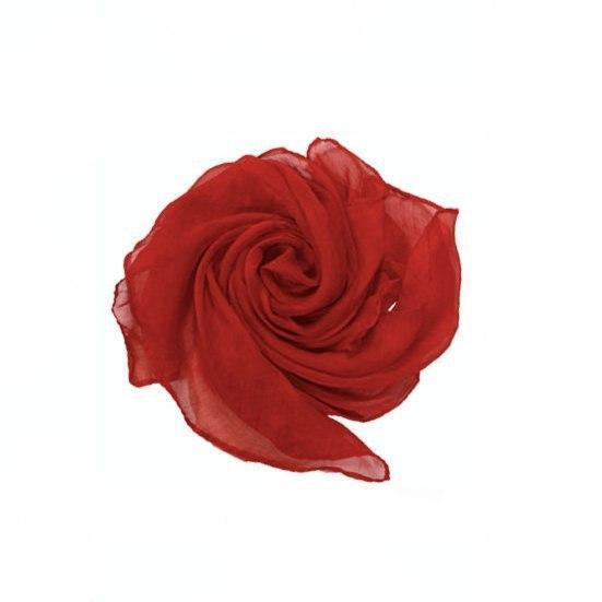 Реквізит для фокусів | Шовкову червону хустку (45*45см)