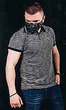 Мужская футболка в стиле Lacoste серая(размер S)