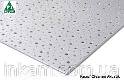 Перфорированная звукопоглощающая плита Knauf Cleaneo Akustik 8/15/20R, 2000x1197х12,5мм