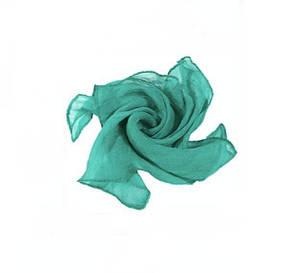 Реквизит для фокусов | Шёлковый зелёный платок (45*45см), фото 2