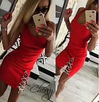 Женское летнее короткое облегающее платье май