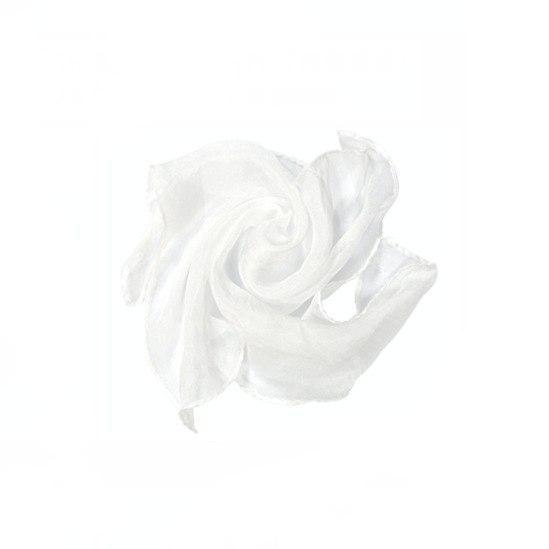Шелковый белый платок (60*60 см)
