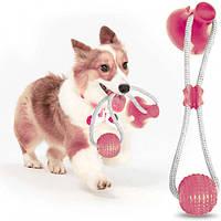 Игрушка для домашних животных с присоской Dog Toy Rope PULL, фото 1