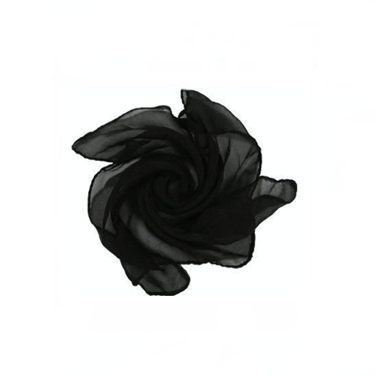 Шёлковый черный платок (60*60см)