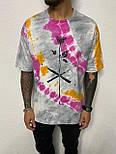 😜 Футболка - Мужская цветная футболка с розой, фото 2