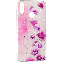 Deep Shine Flowers Case for Samsung A405 (A40) Lilac