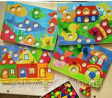 Настольная игра goki Лото Разноцветный мир, для изучения цветов, 1,5+