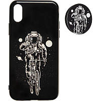 Space Silicon Case for iPhone 7/8 №2 Black