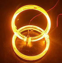 "95 мм, кольцо подсветки ""кристалл"", желтый 1шт., фото 3"