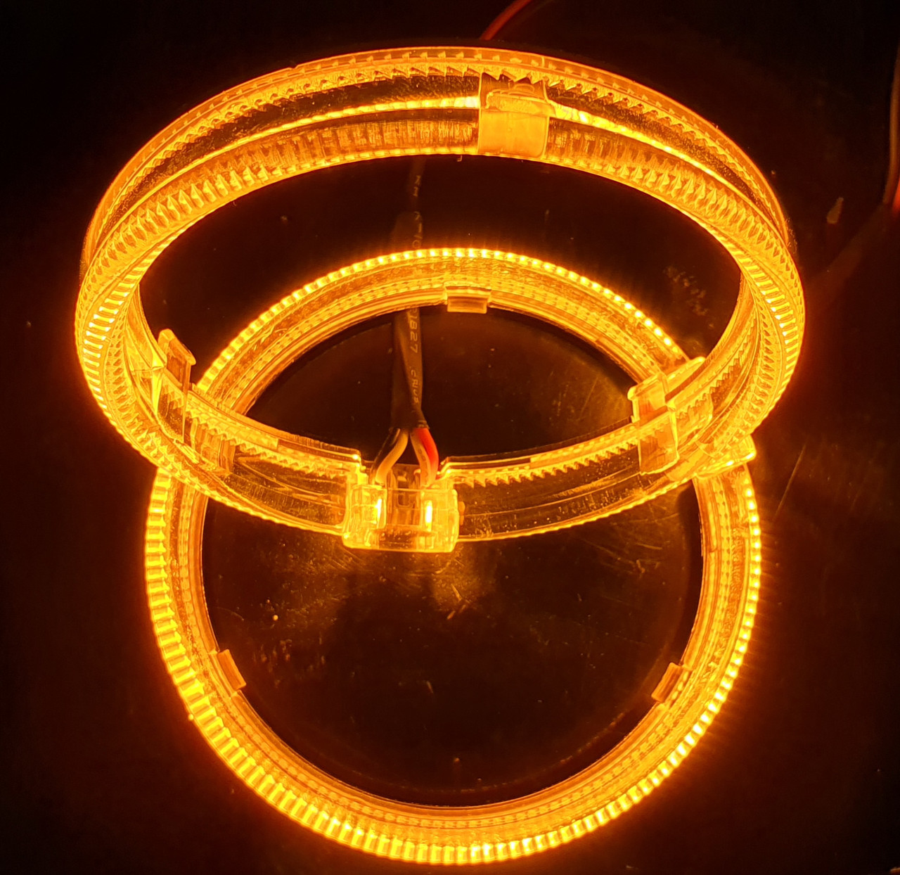 """95 мм, кольцо подсветки """"кристалл"""", желтый 1шт."""