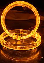 "95 мм, кольцо подсветки ""кристалл"", желтый 1шт., фото 2"