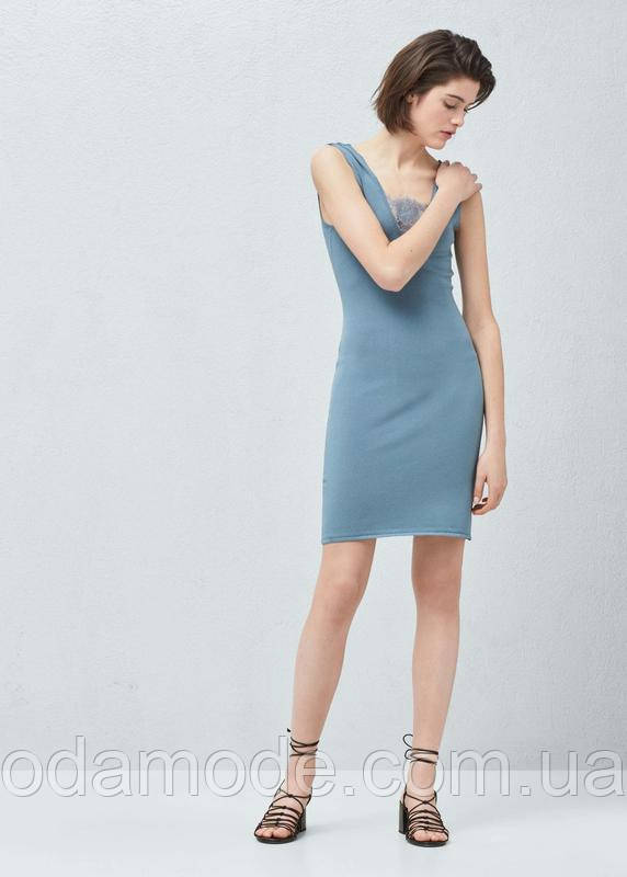 Платье женское mango голубое