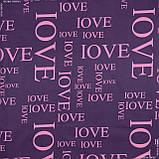 Двуспальный комплект, бязь Gold DW LOVE (52%хлопок, 48%полиэстер) - простынь, пододеяльник, 2 наволочки), фото 2