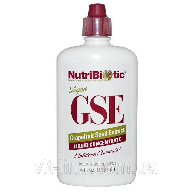 NutriBiotic, Рідкий концентрат GSE, з екстрактом насіння грейпфрута (118 мл)