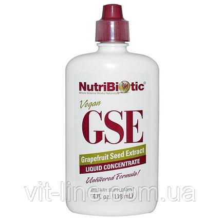 NutriBiotic, Рідкий концентрат GSE, з екстрактом насіння грейпфрута (118 мл), фото 2