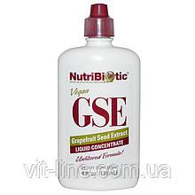 NutriBiotic, Жидкий концентрат GSE, с экстрактом семян грейпфрута (118 мл)