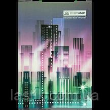 Тетрадь канцелярская, JOBMAX, А4, 96 л., клетка, офсет, картонная обложка, ассорти, фото 2