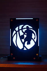 Декоративный настольный ночник Баскетболист, теневой светильник, несколько подсветок (на пульте)