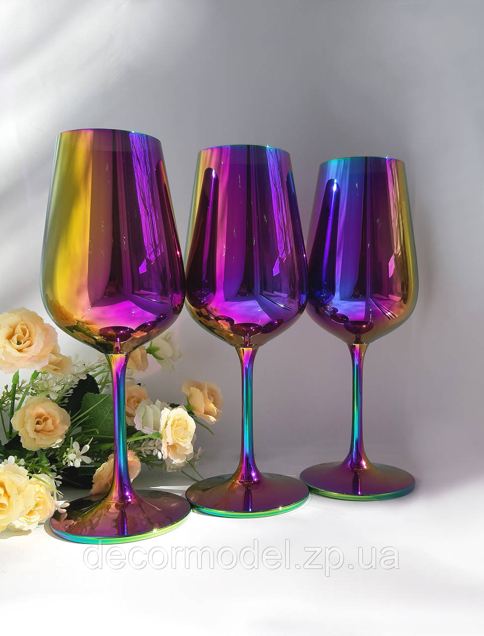 Набор бокалов для вина Bohemia Strix 360 мл. (цвет: РАДУГА, сияние)