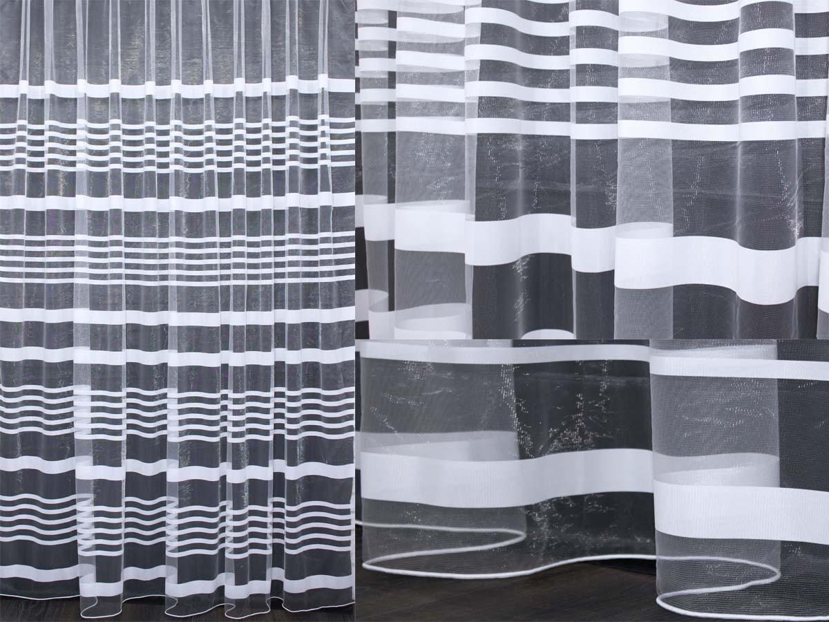 """Тюль фатин с принтом, коллекция """"Катрин"""". Цвет белый.  Код 205т(5*2,5) 40-003"""