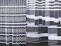 """Тюль фатин с принтом, коллекция """"Катрин"""". Цвет белый.  Код 205т(5*2,5) 40-003, фото 1"""