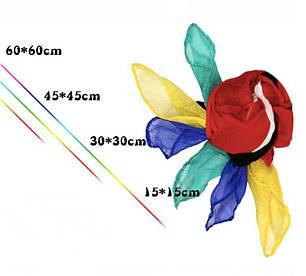 Реквизит для фокусов | Шёлковый платок жёлтый (30*30см), фото 2