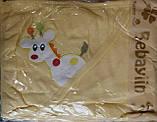 "Полотенце уголок ""Жираф"" с руковичкой для купания, фото 2"