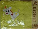 "Полотенце уголок ""Жираф"" с руковичкой для купания, фото 3"