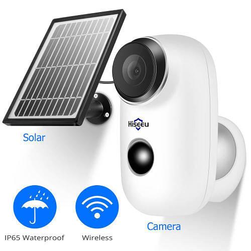 Автономная WiFi камера Hiseeu Solar-Battery C10 (2Mp, IP)