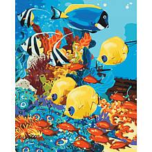 """Набір для розпису по номерах.Тварини, птахи """"Морське царство"""" 40*50см"""