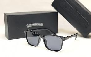 Мужские солнцезащитные очки в стиле Chrome Hearts (1081) глянцевая оправа
