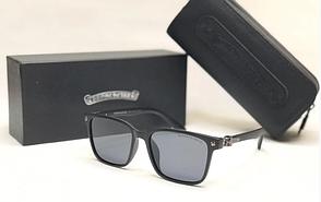 Мужские солнцезащитные очки в стиле Chrome Hearts (1081) матовая оправа