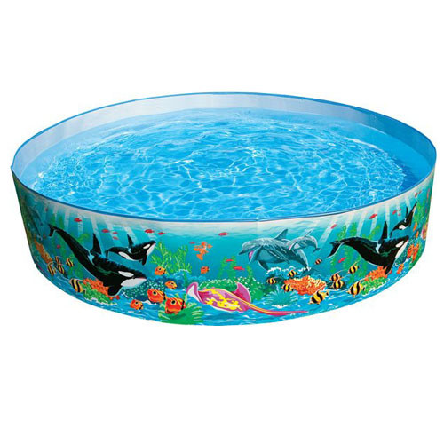 Детский каркасный бассейн Intex 58472 коралловый риф 244-46 см